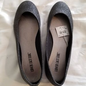 Lower East Side size 7 black sparkly flats